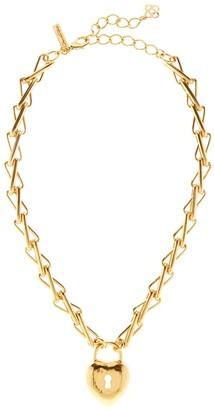Oscar de la Renta Heart Locket Necklace