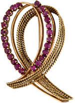 14K Ruby Crossover Brooch