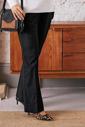 Next Womens Black Maternity Over The Bump Boot Cut Trousers - Black