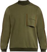 Oamc Flight quilted-back sweatshirt