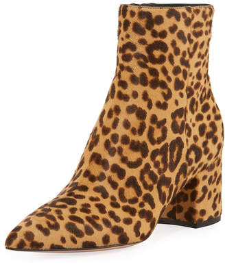 Gianvito Rossi Leopard 60mm Pointed-Toe Booties