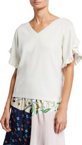 See by Chloe Feminine Frilly Knit Top