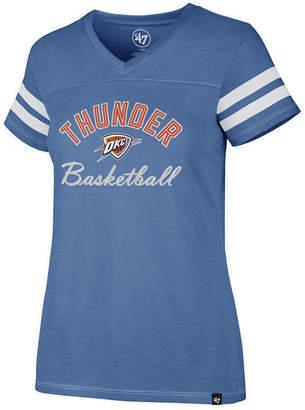 '47 Women Oklahoma City Thunder Metallic Dinger V-Neck T-Shirt