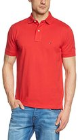 Tommy Hilfiger Men's New Tommy Knit Short Sleeve Polo Shirt,Small
