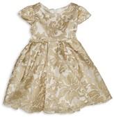 Biscotti Girls' Metallic Embroidered Overlay Dress - Baby