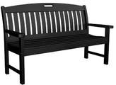 "Polywoodâ® Nautical Plastic Garden Bench POLYWOODA Size: 37.5"" H x 51.75"" W x 25"" D, Color: Black"