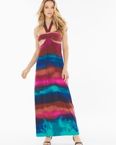 Soma Intimates Faye Halter Maxi Dress Ombre Stripe