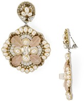 Ranjana Khan Freshwater Pearl Clip-On Drop Earrings