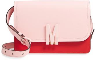 Moschino M Bicolor Leather Shoulder Bag