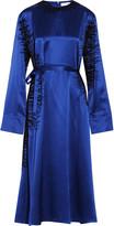 J.W.Anderson Flocked silk-satin maxi dress