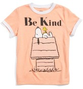 Mighty Fine Toddler Girl's Snoopy & Woodstock Be Kind Tee