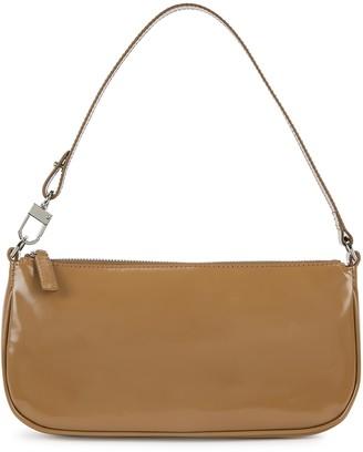 BY FAR Rachel Brown Patent Leather Shoulder Bag