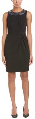 Tahari by Arthur S. Levine Women's Black Sleevless Beaded Neckline Dress 10