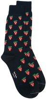 Paul Smith Red Ear strawberry pattern socks