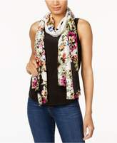 INC International Concepts Floral-Print Wrap and Scarf in One,Created for Macy's