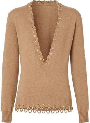 Burberry Chain Detail Cashmere Sweater