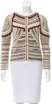 Isabel Marant Collarless Crocheted Cardigan