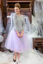 Shabby Apple Bloom Skirt Purple