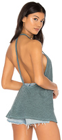 Lanston Y Back Cami in Blue. - size L (also in M,S,XS)