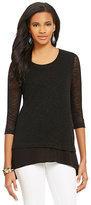 Chelsea & Theodore Faux-Layered Top