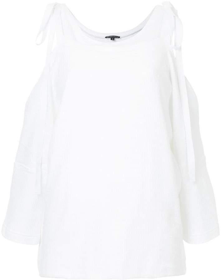 Ann Demeulemeester cold-shoulder top