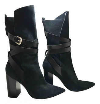 CNC Costume National Black Pony-style calfskin Boots