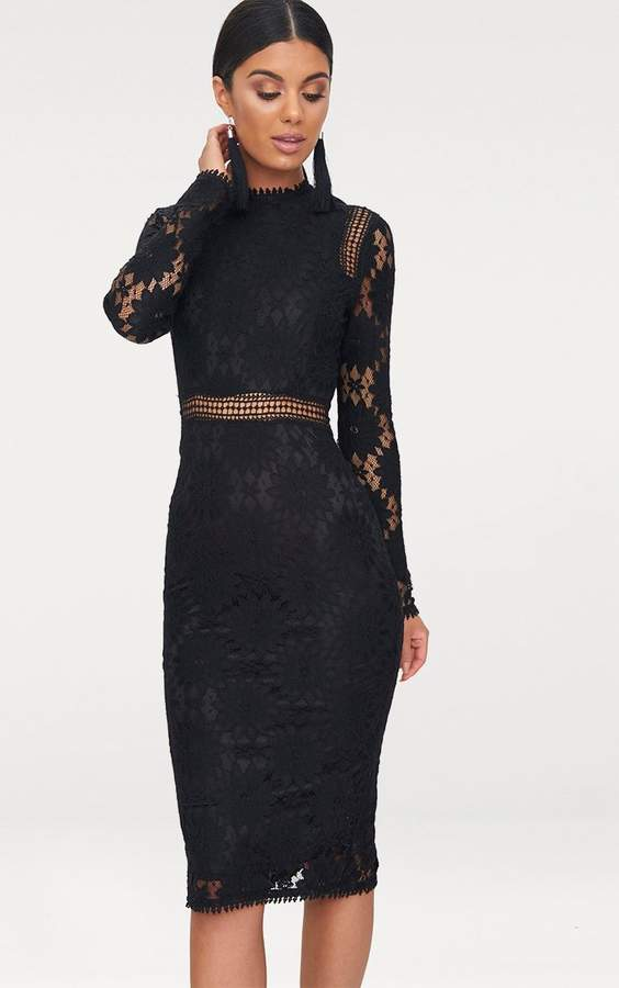 2c79d037279 Nude Pink Black Lace Dress - ShopStyle UK