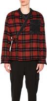3.1 Phillip Lim Plaid Flannel Kimono Shirt Jacket