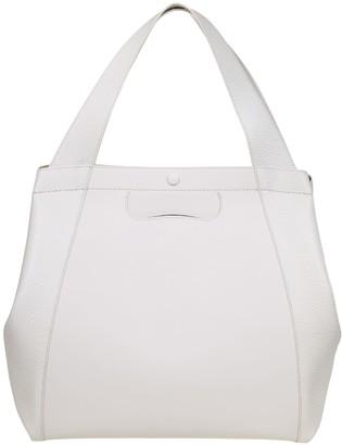 Maison Margiela Shopping Tote In White Leather