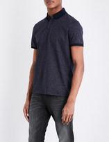 Calvin Klein Micro dot-print cotton polo shirt