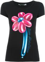 Love Moschino 'Flower' T-shirt - women - Cotton/Spandex/Elastane - 40