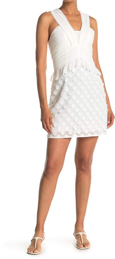 Reiss Georgia Jacquard Sleeveless Dress