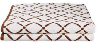 Impressions 100% Cotton 2-Piece Diamond Bath Sheet Set