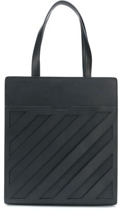 Off-White Diagonal Formal Tote Bag