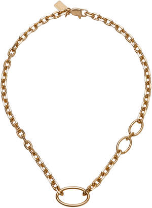Lady Grey 14K Gold-Plated Bronze Oval Link Necklace