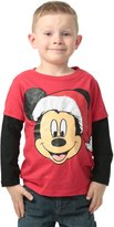 Disney boys Mickey Mouse Santa Toddler Long Sleeve Shirt