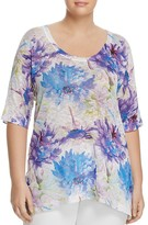Nally & Millie Plus Short-Sleeve Printed Tunic