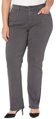 NYDJ, Plus Size Size Plus Size Marilyn Straight Jeans in Vintage Pewter (Vintage Pewter) Women's Jeans