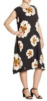 Lafayette 148 New York, Plus Size Romona Flower Print Dress
