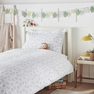 The White Company Little Lion Bed Linen Set, White Grey, Cot Bed