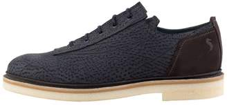 Perks Textured Blue Derby Shoes