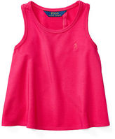 Ralph Lauren 2-6X Open-Back Stretch Jersey Tank