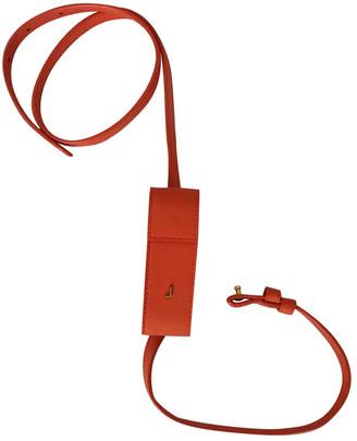 Jacquemus Le porte rouge a levres Orange Leather Clutch bags