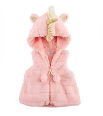 Mud Pie Mudpie Pink Unicorn Vest