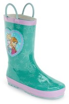 Western Chief Girl's 'Frozen Princess' Waterproof Rain Boot