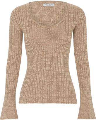 ANNA QUAN Daria Ribbed-Knit Cotton Top