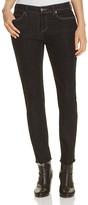 Eileen Fisher Frayed Hem Slim Ankle Jeans