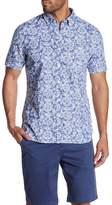 Jack Spade Short Sleeve Flower Trim Fit Shirt