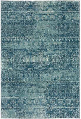 Dakota Fields Naples Blue/Ivory Rug Rug Size: Rectangle 8' x 10'7""