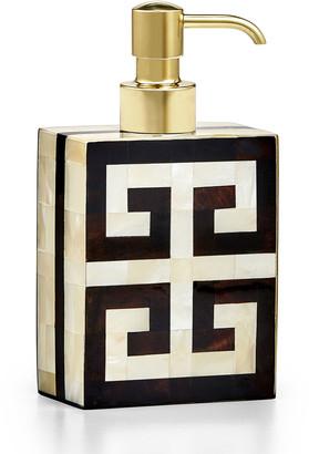 Labrazel Greek Key Pump Dispenser - with Unpolished Brass Pump